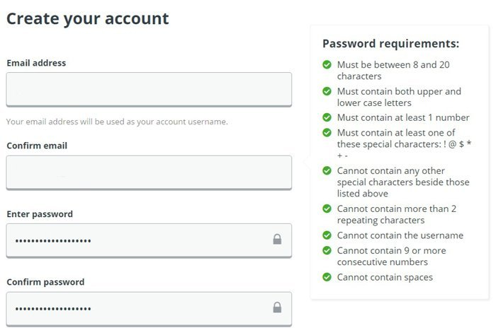 password forms